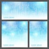 Reeks abstracte lichtblauwe banners Stock Fotografie
