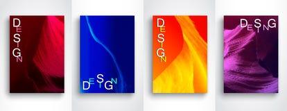 Reeks Abstracte moderne achtergronden Toekomstige geometrische gradiëntachtergrond Reeks van 4 Vectormalplaatjes in A4-grootte stock illustratie