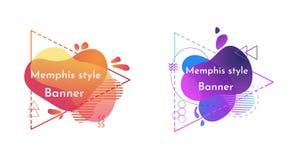 Reeks abstracte moderne grafische elementen royalty-vrije illustratie