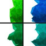 Reeks abstracte moderne stijlachtergronden Stock Fotografie