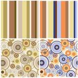 Reeks abstracte naadloze patronen Stock Afbeelding