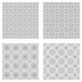 Reeks abstracte naadloze patronen Royalty-vrije Stock Afbeeldingen