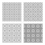 Reeks abstracte naadloze patronen Stock Afbeeldingen