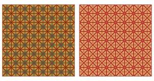 Reeks abstracte naadloze patronen Stock Fotografie
