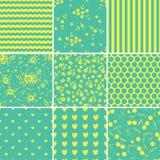 Reeks abstracte naadloze patronen Stock Foto's