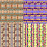 reeks abstracte patronen Stock Foto's