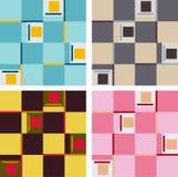 reeks abstracte patronen Royalty-vrije Stock Afbeeldingen