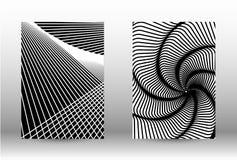 Reeks abstracte patronen met vervormde lijnen royalty-vrije illustratie