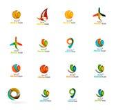 Reeks abstracte pictogrammen van het reisembleem Zaken, app Royalty-vrije Stock Fotografie