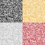 Reeks Abstracte Pixelachtergronden Stock Afbeelding