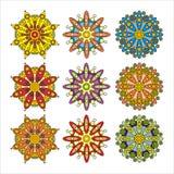 Reeks abstracte sierbloemen Royalty-vrije Stock Afbeelding