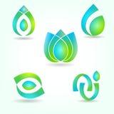 Reeks abstracte symbolen Stock Foto