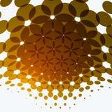 Reeks Abstracte vector gele ontwerprondes Stock Foto's