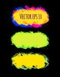 Reeks abstracte vector kleurrijke borstelslagen Getrokken hand Royalty-vrije Stock Fotografie