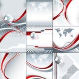 Reeks abstracte vectorachtergronden Stock Afbeeldingen