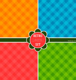 Reeks achtergronden, heldere kleuren voor een modieus verpakkend document Geometrische Achtergrond Stock Afbeelding