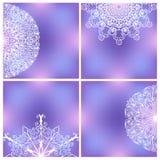 Reeks Achtergronden met Lacy Patterns Stock Afbeelding
