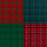 Reeks achtergronden van de geruit Schots wollen stofcontrole. Royalty-vrije Stock Foto's
