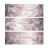 Reeks Achtergronden van het Banners Veelhoekige Mozaïek Stock Afbeeldingen