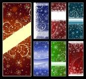 Reeks achtergronden van Kerstmis Royalty-vrije Stock Afbeeldingen