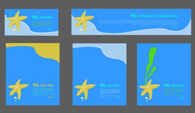 Reeks achtergrondmalplaatjes Stock Afbeeldingen