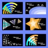Reeks adreskaartjes vector illustratie