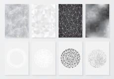 Reeks affiches met geometrische achtergrond Stock Afbeeldingen