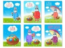 Reeks affiches voor Pasen stock afbeelding