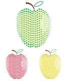Reeks appelen Stock Fotografie