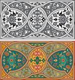Reeks Arabesque-patronen stock illustratie