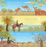 Reeks Australische reisaffiches stock illustratie