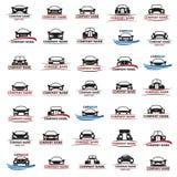 Reeks auto's royalty-vrije illustratie