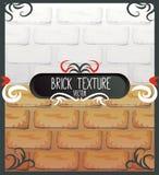 Reeks baksteentexturen Stock Fotografie