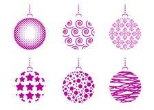 Reeks ballen van Kerstmis Royalty-vrije Stock Afbeelding