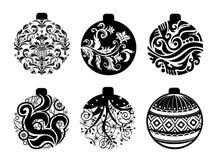Reeks ballen van Kerstmis royalty-vrije illustratie
