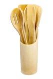 Reeks bamboekeukengereedschap Royalty-vrije Stock Foto's