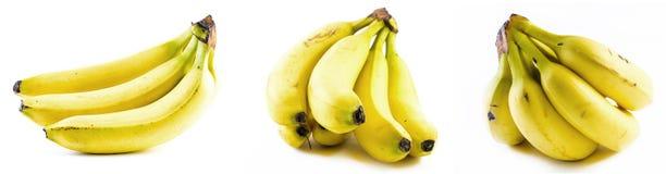 Reeks bananen op een witte achtergrond Royalty-vrije Stock Afbeelding