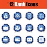 Reeks bankpictogrammen royalty-vrije illustratie