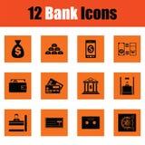 Reeks bankpictogrammen stock illustratie
