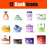 Reeks bankpictogrammen vector illustratie