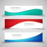 Reeks bannermalplaatjes Modern abstract ontwerp Stock Foto's