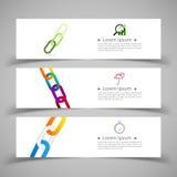 Reeks bannermalplaatjes Modern abstract ontwerp Stock Afbeelding