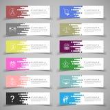Reeks bannermalplaatjes Modern abstract ontwerp Royalty-vrije Stock Afbeeldingen