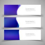 Reeks bannermalplaatjes Modern abstract ontwerp Stock Fotografie