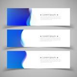 Reeks bannermalplaatjes Modern abstract ontwerp Royalty-vrije Stock Foto
