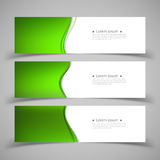 Reeks bannermalplaatjes Modern abstract ontwerp Royalty-vrije Stock Fotografie