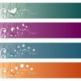 Reeks Banners Stock Afbeeldingen