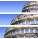Reeks banners met Coliseum Stock Foto's