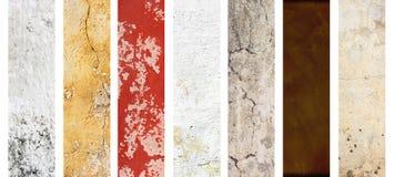 Reeks banners met texturen van gipspleister Stock Foto