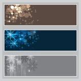 Reeks banners van Kerstmis Stock Foto's